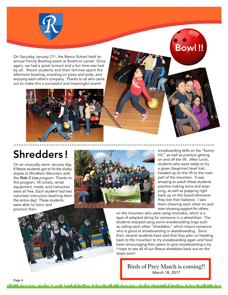 Newsletter Page 4, Shredders Bowling