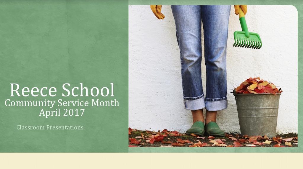 Community Service Month Presentation Slide