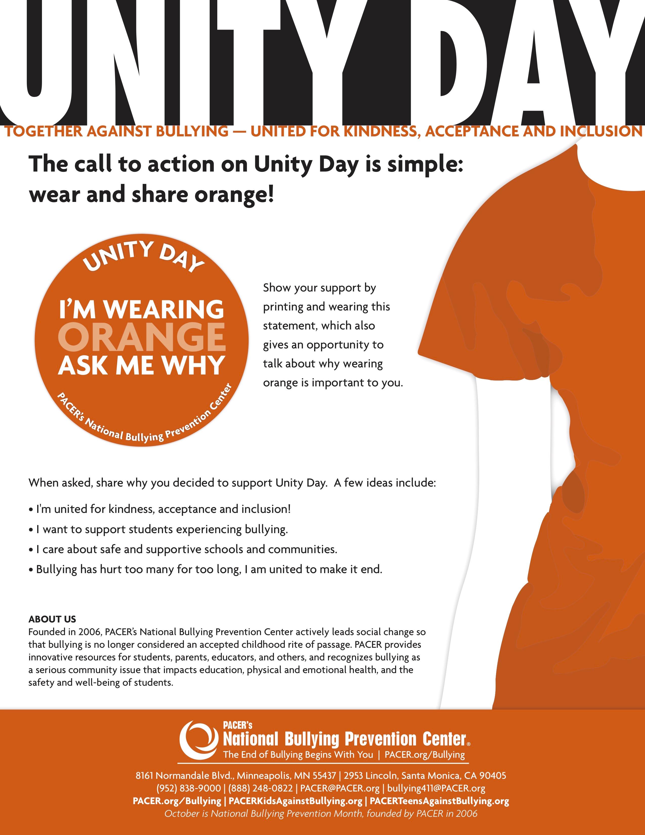 Wear Orange for UNITY DAY - Reeceschool org