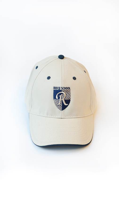 white cap with reece school logo